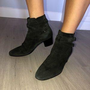Saint Laurent Genuine suede black booties